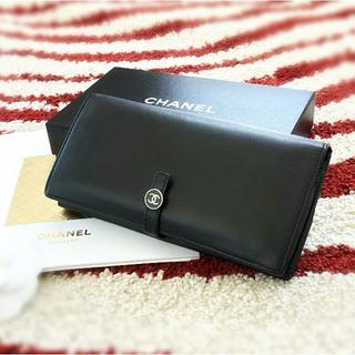 CHANEL - 正規品 美品 CHANEL シャネル 長財布 ブラック ココボタン