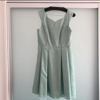 マルイ(マルイ)のワンピース マルイモデル 13〜15号ドレス グリーン(ミディアムドレス)