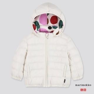 マリメッコ(marimekko)の海外限定 marimekko×ユニクロ ダウンジャケット100白 マリメッコ(ジャケット/上着)
