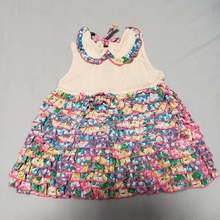 フェフェ(fafa)のワンピース ドレス 80 ベビー fafa フェフェ ティアード あじさい(ワンピース)
