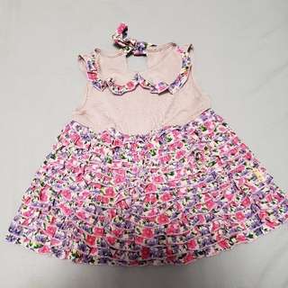 フェフェ(fafa)の① ワンピース ドレス fafa ベビー フェフェ ティアード 80(ワンピース)
