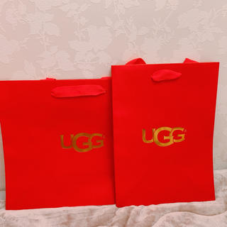 アグ(UGG)のUGG レア色 RED(トートバッグ)