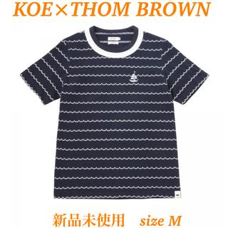 トムブラウン(THOM BROWNE)の【KOE×THOM BROWNE】CREWNECK TEE ネイビー sizeM(シャツ)