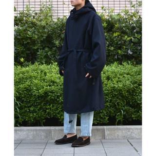 COMOLI - AURALEE  Light Melton Long Hooded Coat
