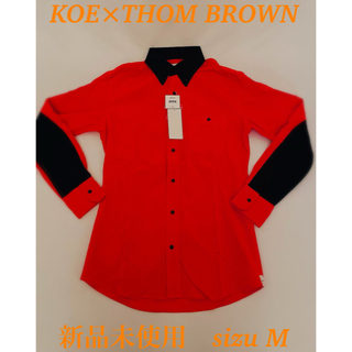 トムブラウン(THOM BROWNE)の【KOE×THOM BROWNE】MENS BUTTONDOWN SHIR 赤(シャツ)
