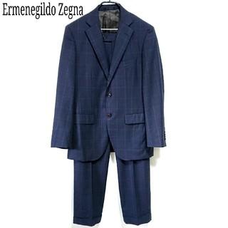 エルメネジルドゼニア(Ermenegildo Zegna)の極美品 上質 Ermenegildo Zegna スーツ上下 格子柄 メンズ L(セットアップ)