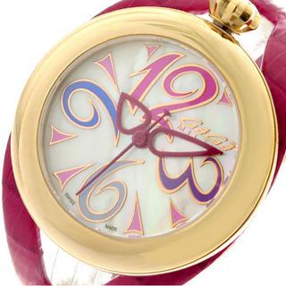 ガガミラノ(GaGa MILANO)のGAGA MILANO 腕時計 メンズ レディース クォーツ ホワイト ピンク(腕時計)