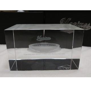 チバロッテマリーンズ(千葉ロッテマリーンズ)の非売品 QVCマリンフィールド 3Dクリスタル クリスタルガラス / 千葉ロッテ(記念品/関連グッズ)