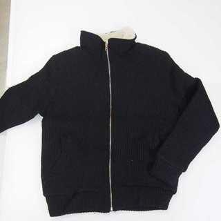 【新品】フリースジャケット サイズフリー ブラック (T48)