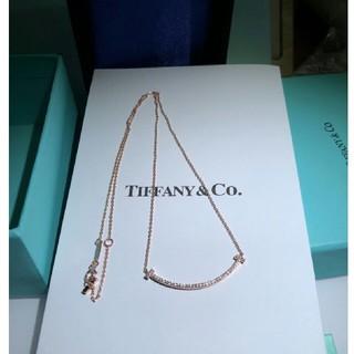 Tiffany & Co. - TIFFANY&Co.T スマイル ネックレス18Kローズゴールドです。