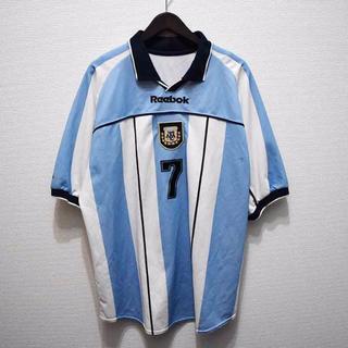 リーボック(Reebok)のREEBOK 00/01 アルゼンチン代表(H)ユニフォーム #7サビオラ(ウェア)