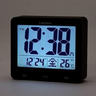 新品 大画面液晶 電波目覚し タッチライトマスター(置時計)