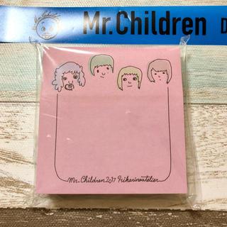 Mr.Children グッズ  ヒカリノアトリエ 付箋 テープ1ロゴ付き(ミュージシャン)