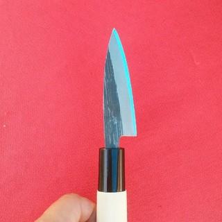釣り好きに大好評❗驚異の切れ味‼️【新品】極小出刃包丁 2寸5分 青紙鋼 手打(その他)