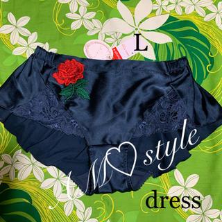 AMO'S STYLE - トリンプ ・アモスタイル・ドレス・L・サテン・キュートな赤ローズ