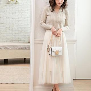 fifth - fifth チュールロングスカート ホワイトMサイズ
