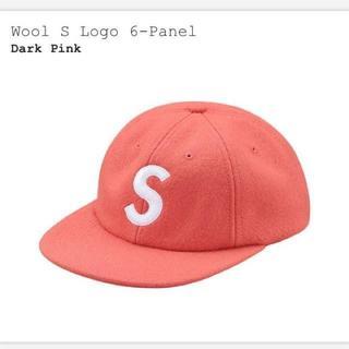 シュプリーム(Supreme)の新品 17aw supreme S logo cap Sロゴ ピンク キャップ (キャップ)