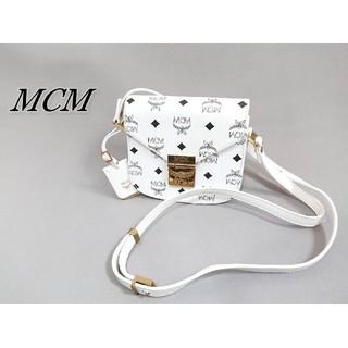 エムシーエム(MCM)のMCM エムシーエム ミニショルダーバッグ ホワイト(ショルダーバッグ)