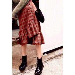 dholic - セール!段違いフリル ロングスカート 可愛い おしゃれ 大人可愛い チェック柄