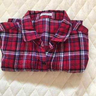 ハニーズ(HONEYS)のネルシャツ(赤)(シャツ/ブラウス(長袖/七分))