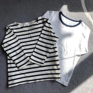 MUJI (無印良品) - 男の子 春服 長袖ロンT90サイズ 二枚組