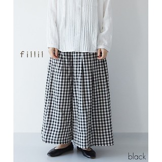 merlot - 春新作*fillil ギンガムチェックタックパンツ
