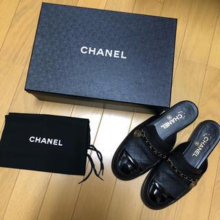 CHANEL - CHANEL チェーン サンダル スリッポン  値下げ5万→48000円