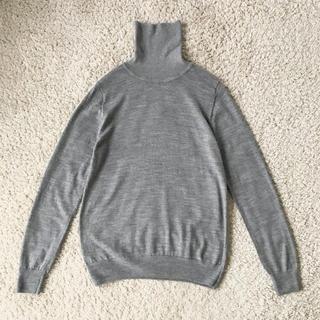 MUJI (無印良品) - 無印良品 首のチクチクをおさえた洗える天竺編みタートルネックセーター