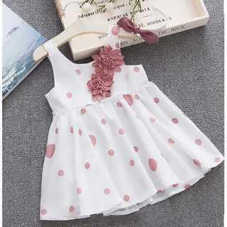 ピンク 子供服 ワンピース カチューシャ 2点セット 女の子 ドレス