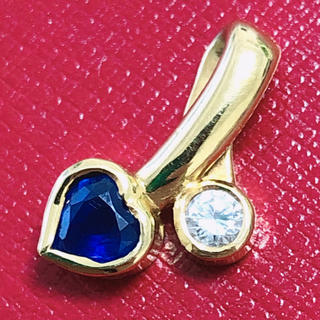 ヴァンドームアオヤマ(Vendome Aoyama)のヴァンドーム vendome k18 サファイア ダイヤモンド ペンダントトップ(チャーム)