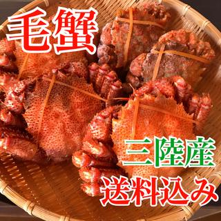 三陸産・毛ガニ・毛蟹・天然物