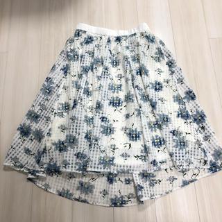 しまむら - しまむら HK WORKS LONDON ミモレ丈 花柄 スカート