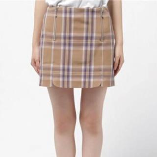 REDYAZEL - REDYAZEL チェックZIP台形スカート