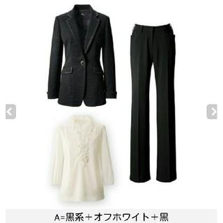 アンテシュクレ(intesucre)のA22 送料無料 新品 42号 ブラックフォーマル スーツ 3点セット(スーツ)