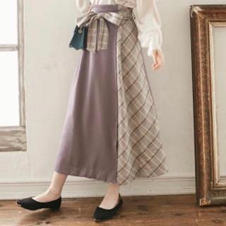 GRL - GRL リボン付き切り替えチェックロングスカート♡♡♡