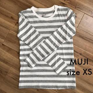 ムジルシリョウヒン(MUJI (無印良品))の無印良品 クルーネック 長袖Tシャツ XSサイズ(カットソー(長袖/七分))