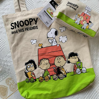 SNOOPY - 《新品 タグ付き》スヌーピー  トートバッグ&ポーチ  2点セット  ②
