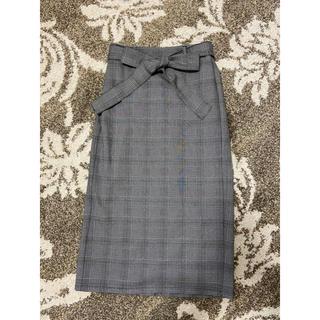 GU - GUチェックタイトスカート グレンチェック Sサイズ