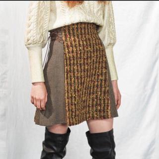 Lily Brown - リリーブラウン サイドレースアップ台形スカート