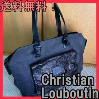 Christian Louboutin - クリスチャンルブタン キャンバス/レザー トートバッグ