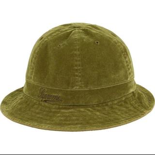Supreme - ML! Supreme Washed Velvet Bell Hat オリーブ