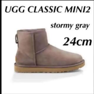 UGG - ラスト‼️UGG CLASSIC MINI II 希少カラーストーミーグレー24