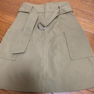 マジェスティックレゴン(MAJESTIC LEGON)のカーキ 台形スカート(ミニスカート)