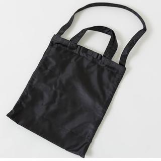 しまむら - プチプラのあや サブバック エコバック ブラック リボントートパック