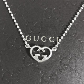 Gucci - 正規品 グッチ ネックレス オープン ハート 銀 SV925 ボール チェーン2