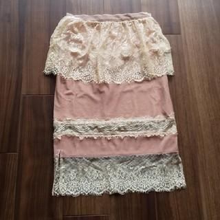 リルリリー(lilLilly)のリルリリーLilLillyレースタイトスカート(ひざ丈スカート)