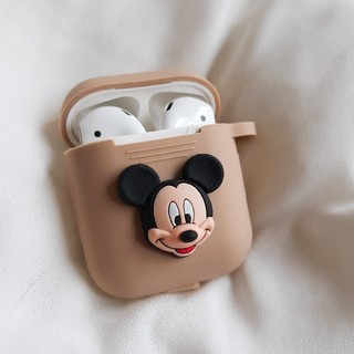 Disney - AirPods ケース エアーポッズ カバー ミッキー キーホルダー