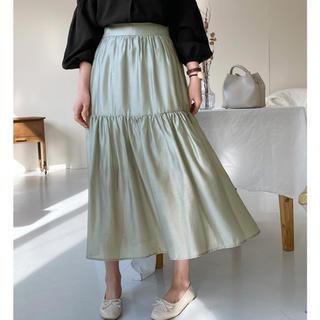 dholic - グロッシーギャザースカート