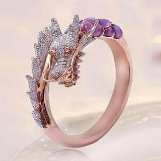 14号 ドラゴン リング 指輪 龍 ピンクゴールド(リング(指輪))