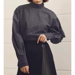 LE CIEL BLEU - ルシェルブルーHigh Neck Shirt